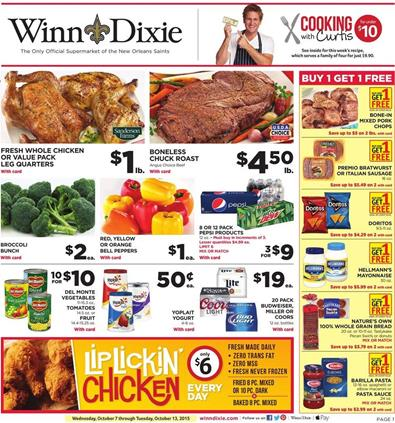 Winn Dixie Weekly Ad Products October 7 2015