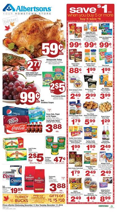 Albertsons Weekly Ad Nov 11 - Nov 17 2015