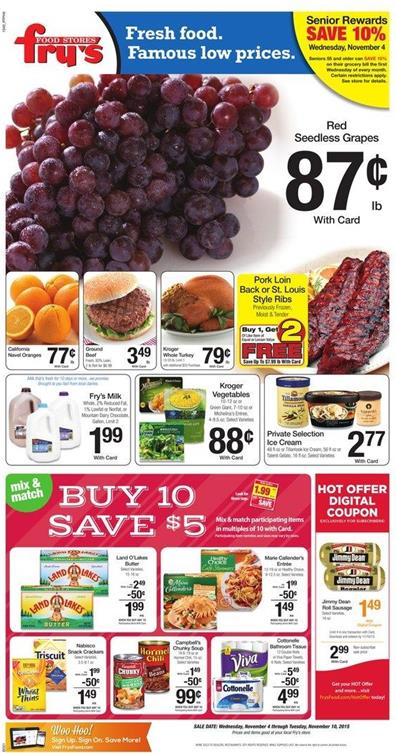 Fry's Weekly Ad Nov 5 - Nov 10 2015