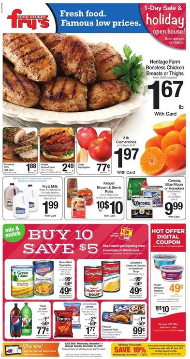 Fry's Weekly Ad Offers Nov 11 2015 Are Simply Food