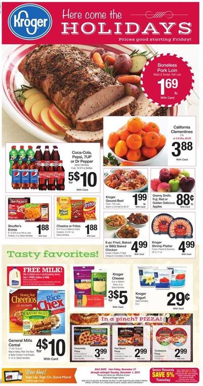 Kroger Ad Favorite Products Holiday Nov 27 2015