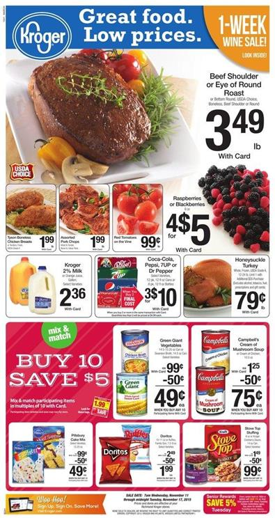 Kroger Ad November 11 2015 Food and Deals