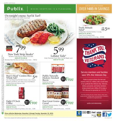 Publix Ad Meat Offers November 7 2015