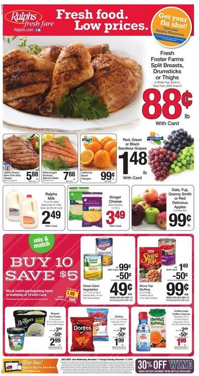 Ralphs Weekly Ad Offers November 11 2015