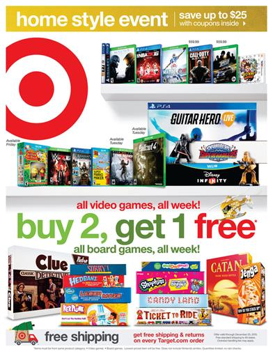 Target Ad Electronic and Game Sale November 8 2015