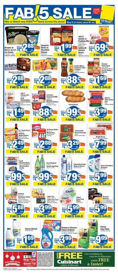 Browse Albertsons Ad Dec 4 2015 Fab!5 Sale