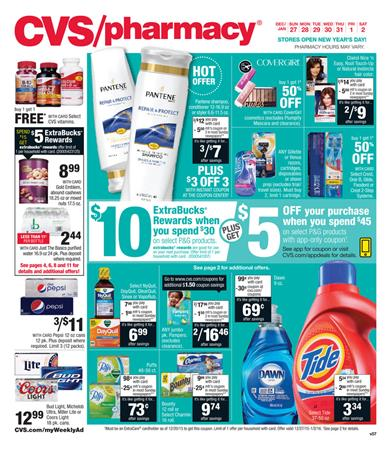 CVS Ad New Year Prices 2015