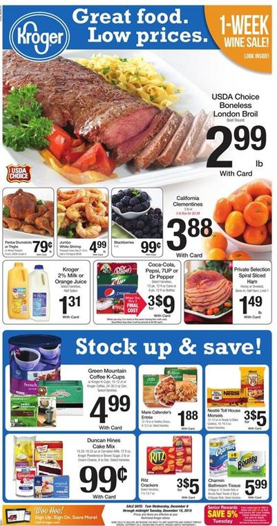 Kroger Ad Christmas Holiday Products Dec 9 2015