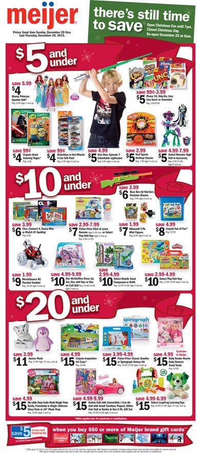 Meijer Ad Christmas Offers 2015