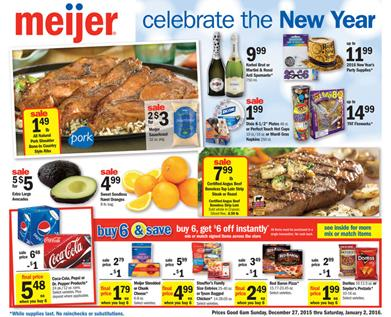 Meijer Ad New Year Deals 2015