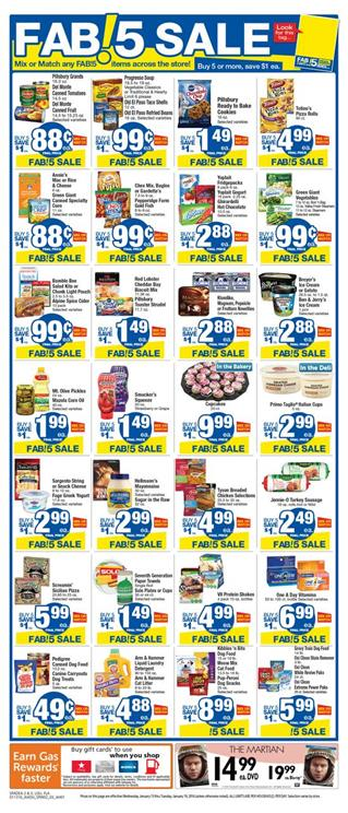 Albertsons Ad Fab!5 Sale