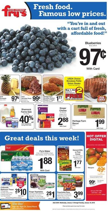 Fry's Food Ad Products Jan 18 2016