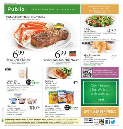 Publix Ad Products Jan 16 2016