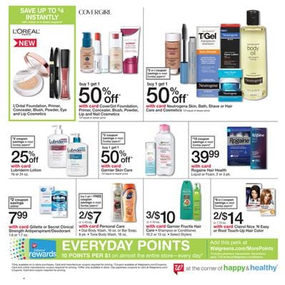 Walgreens Weekly Ad Personal Care Jan 13