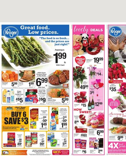 Kroger Weekly Ad Products Feb 10 2016