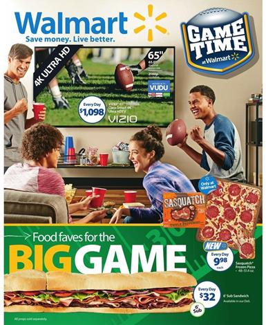 Walmart Ad Game Time Food Feb 2 2016