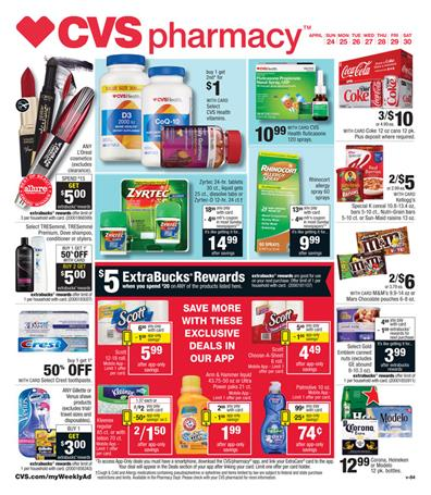 CVS Weekly Ad Pharmacy April 24 2016