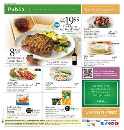 Publix Ad April 21 2016 Overview and Grocery Sale