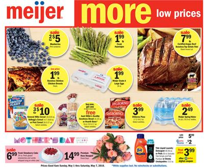 Meijer Weekly Ad May 1 2016