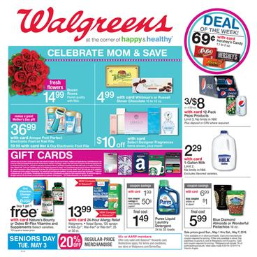Walgreens Ad Mother's Day Sale 2016