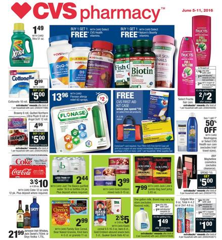 CVS Pharmacy Weekly Ad June 5 - 11 2016 Top Deals