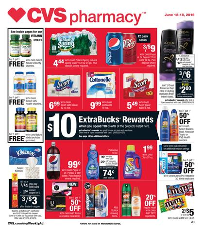 CVS Weekly Ad Jun 12 - 18 2016 Pharmacy Deals