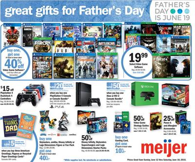 Meijer Weekly Ad Jun 12 - 18 2016 Father's Day