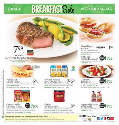 Publix Weekly Ad June 1 - 7 2016