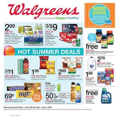 Walgreens Weekly Ad Summer Jun 26 - Jul 2 2016