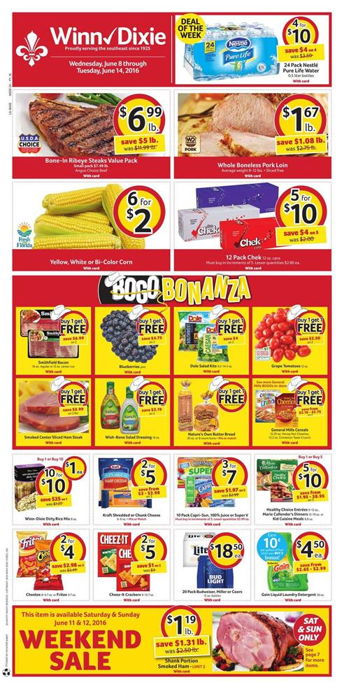 Winn Dixie Weekly Ad Jun 8 -14 2016