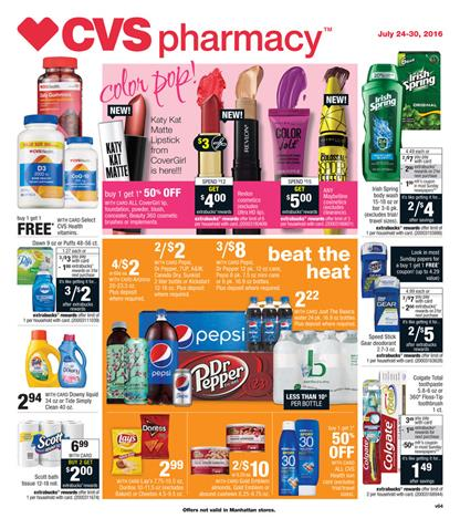 CVS Weekly Ad Jul 24 - Jul 30 2016 Overview