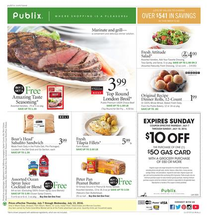 Publix Coupon Match Ups 7-6 - 7-13 2016