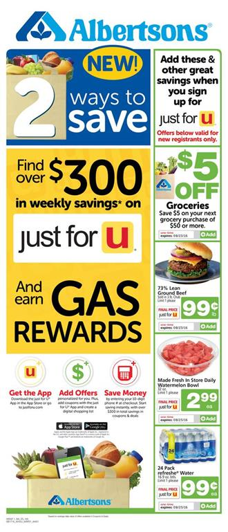 Albertsons Weekly Ad Aug 17 - 23 2016 Overview