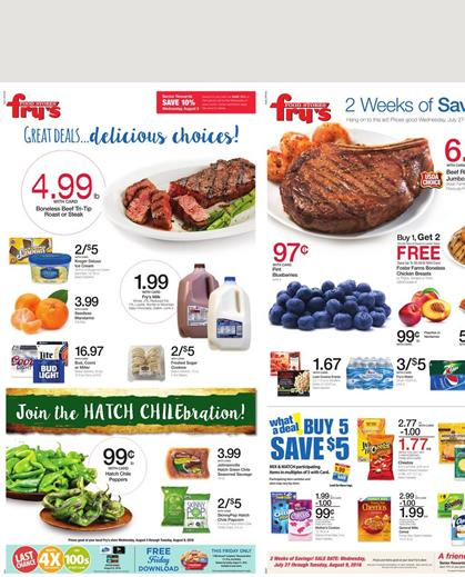 Fry's Weekly Ad Aug 3 - Aug 9 2016