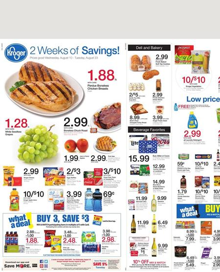 Kroger Weekly Ad Aug 10 - 16 2016