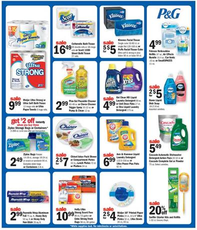 Meijer Weekly Ad Aug 28 - Sep 3 2016 Pet and Household