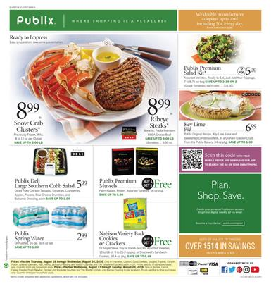 Publix Weekly Ad Aug 17 - Aug 23 2016