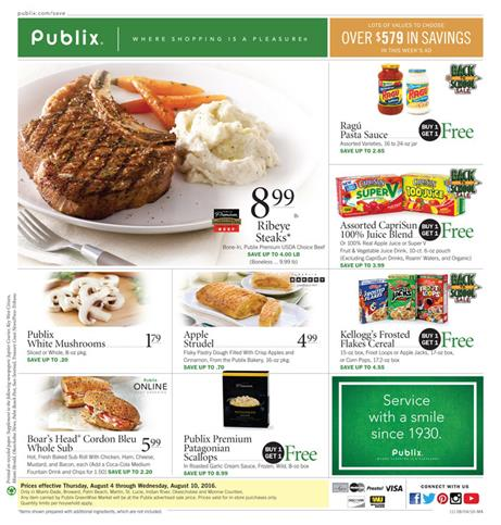 Publix Weekly Ad Aug 4 - Aug 10 2016
