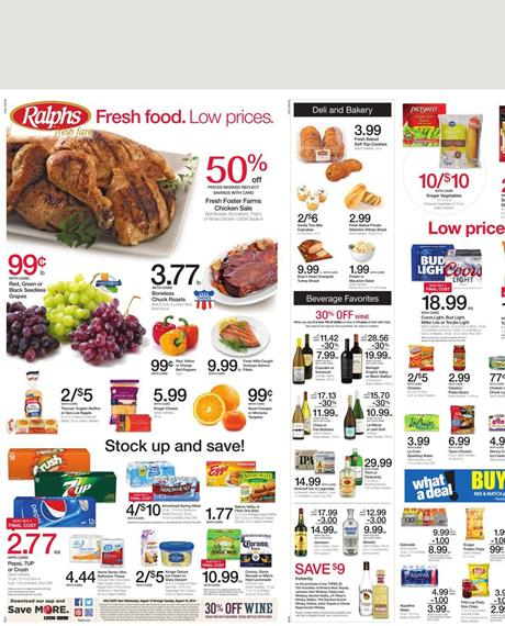 Ralphs Weekly Ad Aug 11 - 17 2016