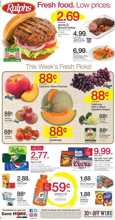 Ralphs Weekly Ad Aug 17 - 23 2016
