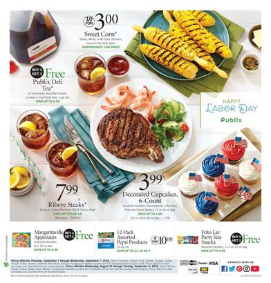 Publix Weekly Ad Aug 31 - Sep 6 2016