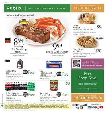Publix Weekly Ad Sep 28 - Oct 4 2016