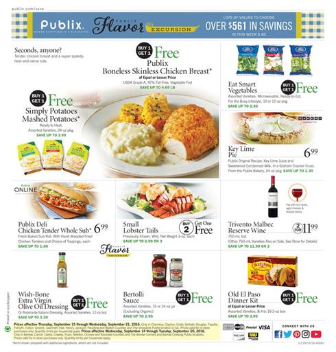 Publix Weekly Ad September 14 - 20 2016