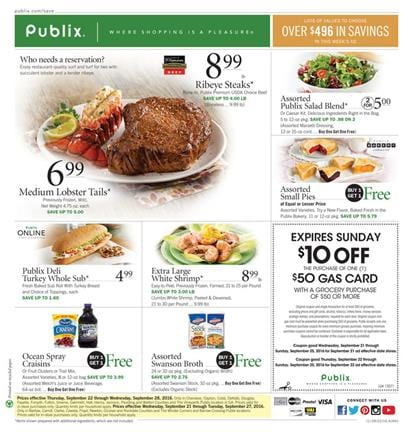 Publix Weekly Ad September 21 - 27 2016