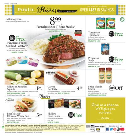 Publix Weekly Ad September 7 - 13 2016
