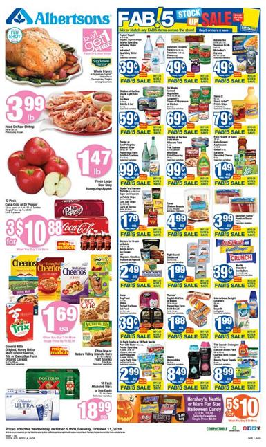 Albertsons Weekly Ad Oct 5 - 11 2016