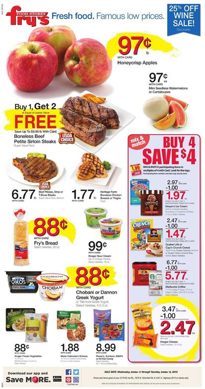 Fry's Weekly Ad Oct 12 - 18 2016