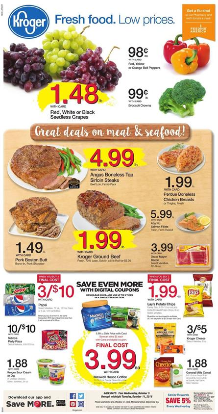 Kroger Weekly Ad Oct 5 - 11 2016