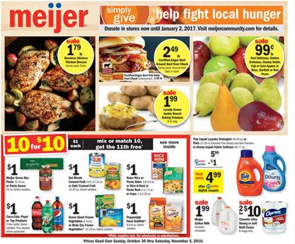 Meijer Weekly Ad Oct 30 - Nov 5 2016