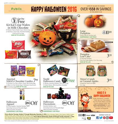 Publix Ad B1G1 Free Oct 26 - Nov 1 2016